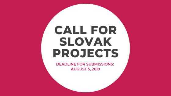 CALL FOR SLOVAK PROJECTS – SLOVAK POP UP